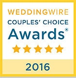 Wedding Wire Couple's Choice Award - 2016 - to Branford Flowers, Branford, CT Wedding Florist, CT Shoreline
